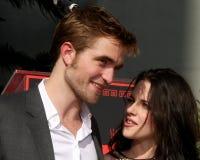 Kristen Stewart, Robert Pattinson. LOS ANGELES - NOV 3:  Robert Pattinson, Kristen Stewart at the Handprint and Footprint Ceremony for the Twilight Saga Actors Royalty Free Stock Image