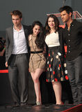 Kristen Stewart, Robert Pattinson, Stephenie Meyers, Taylor Lautner Royalty Free Stock Image