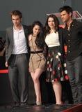 Kristen Stewart, Robert Pattinson, Stephenie Meyers, Taylor Lautner Royalty Free Stock Image