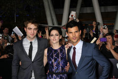 Kristen Stewart, Robert Pattinson, Taylor Lautner Stock Photos