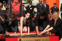 Kristen Stewart, Robert Pattinson, Taylor Lautner Stock Photography