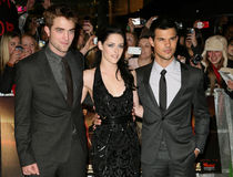 Kristen Stewart, Robert Pattinson, Taylor Lautner Stock Photo