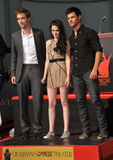 Kristen Stewart, Robert Pattinson, Taylor Lautner Stock Photography