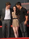 Kristen Stewart, Robert Pattinson, Taylor Lautner Royalty Free Stock Image