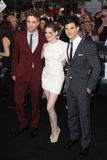Kristen Stewart,Robert Pattinson,Taylor Lautner. Robert Pattinson, Kristen Stewart, and Taylor Lautner 2010 Los Angeles Film Festival - Eclipse Premiere Nokia Stock Photography