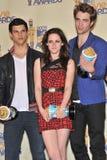 Kristen Stewart, Robert Pattinson, Taylor Lautner Fotografia de Stock