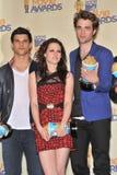 Kristen Stewart,Robert Pattinson,Taylor Lautner Royalty Free Stock Image
