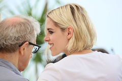 Kristen Stewart, Woody Allen Royalty Free Stock Photo