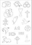 Kristen symbol stock illustrationer