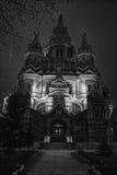 Kristen tempel i skymningen royaltyfria bilder