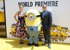 Kristen Wiig en Steve Carell Stock Afbeelding