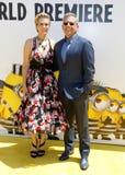 Kristen Wiig y Steve Carell Foto de archivo