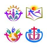Kristendomenfolk vektor illustrationer