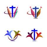Kristendomenlogo stock illustrationer