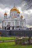 kristendomenmoscow tempel Arkivfoto