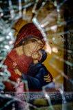 Kristenoffer av oberättigat våld royaltyfria foton