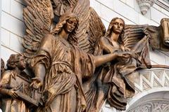 kristet externt fragmentmöblemangtempel Arkivbilder
