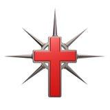Kristet kors royaltyfri illustrationer