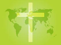kristet kors stock illustrationer