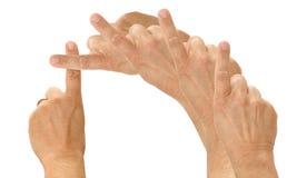 kristet korsfinger Arkivfoto