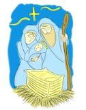 Kristi födelse av Jesus Illustration Royaltyfria Bilder