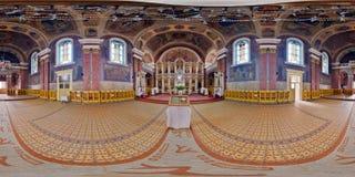 Kristi födelse av St John Baptist Orthodox Cathedral, Arad, Rumänien royaltyfria bilder