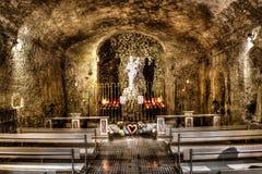 Kristi födelse av vår dam HDR, l-Għar l-Madonna ta, Mellieha, Malta Royaltyfria Foton