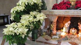 Kristi födelse på katolska kyrkan stock video