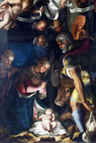 Kristi födelse tillbedjan av herdarna Royaltyfri Fotografi
