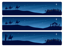 Kristi födelsebaner vektor illustrationer