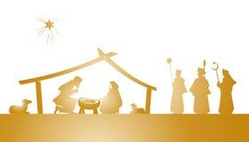 Kristi födelselek Arkivbild