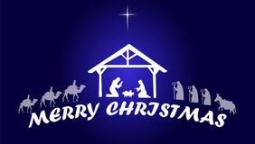 Kristi födelsen av Jesus Christ Merry Christmas royaltyfri illustrationer