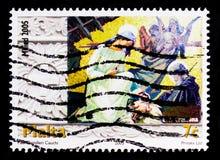 Kristi födelsen, julserie 2005, circa 2005 Royaltyfri Bild