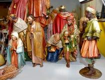 Kristi födelsestatyettsamling Arkivbild