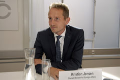 KRISTIAN JENSEN_DANISH MINISTER FOR FOREIGN AFFAIRS Royalty Free Stock Photos