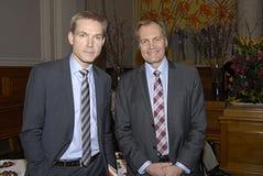 KRISTIAN THULESEN DAHL & PETER SKAARUP stock foto