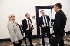 Kristian thulesen dahl som det danska folket festar brukar financeminister fotografering för bildbyråer