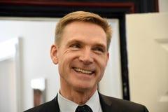 Kristian thulesen dahl som det danska folket festar brukar financeminister arkivbilder