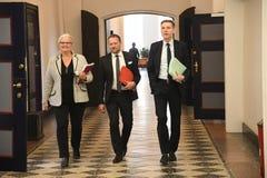 Kristian thulesen dahl som det danska folket festar brukar financeminister royaltyfri bild