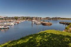 Kristiansand Boats and Marina. Exposure done in Kristiansand Marina, Norway Stock Photo