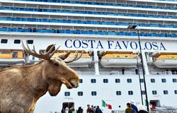 Cruise ship Costa Favolosa Stock Images