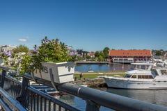 Kristiansandboten en Jachthaven Stock Foto's