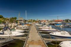 Kristiansandboten en Jachthaven Stock Foto
