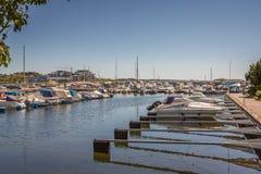 Kristiansandboten en Jachthaven Stock Fotografie