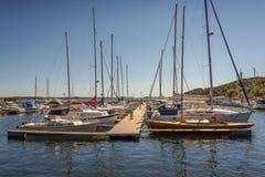 Kristiansandboten en Jachthaven Royalty-vrije Stock Foto's