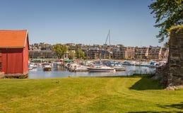 Kristiansandboten en Jachthaven Royalty-vrije Stock Afbeeldingen