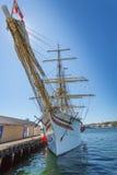 Kristiansandboten en Jachthaven Stock Afbeeldingen
