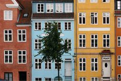 Kristianshavn, Kopenhagen, Denemarken. royalty-vrije stock foto