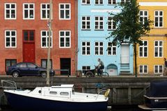 Kristianshavn, Kopenhagen, Denemarken. royalty-vrije stock afbeeldingen
