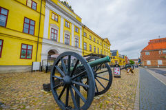 Kristianstad,美丽如画的城市在瑞典 免版税库存图片